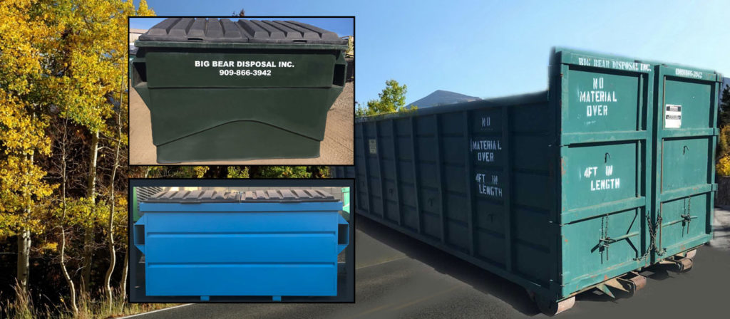 Big Bear Disposal, Inc. Trash and Recycling Containers